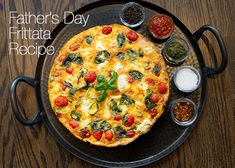 Recipe for a breakfast frittata perfect for Father's Day! I would do it minus the bacon.