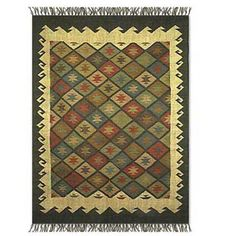 Eco-friendly Hand knotted Wool rugs are sold every where those are typically Manufacture in Rajasthan, India.