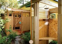 two views Pool Shower, Pool Bathroom, Off Grid House, Space Projects, Earthship, Round House, The Ranch, Easy Diy Projects, Water Features