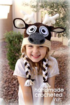 Sven the Reindeer, created by Handmade Crocheted Hats Find me at https://www.facebook.com/HandmadeCrochetedHats