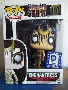 Enchantress (Suicide Squad) Funko Pop Vinyl Legion of Collectors Exclusive Wwe Funko Pop, Funko Pop Dolls, Funk Pop, Pop Marvel, Jared Leto, Funko Pop Display, Will Smith, Pop Figurine, Funko Figures