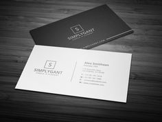 Simple Minimal Business Cards by Galaxiya on @creativemarket