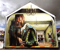 Dream and surrealism in anamorphic street painting by Vera Bugatti