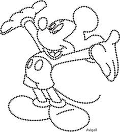 Mickey mouse Dot Patterns, String Art Patterns, Quilt Patterns, Paper Embroidery, Hand Embroidery Designs, Christmas Ornament Coloring Page, Kids Punch, Nail String Art, Rhinestone Art