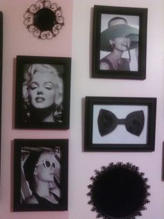 Old Hollywood Glam-try to find frames at a dollar store or use black paper with double sided tape!
