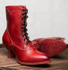 ab90f67688ee The Eleanor Red Leather Womens Granny Boots are a lovely leather wedding  cowgirl boots with a