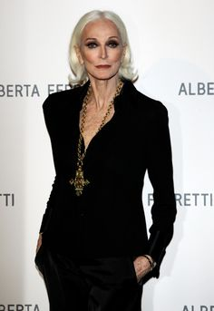 Carmen Dell'Orefice. 80 years old, and still one of the most beautiful women in the world. Same height as me too!