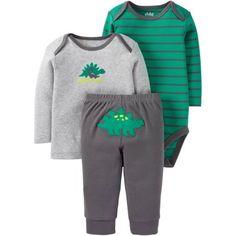 Child of Mine by Carter's Newborn Baby Boy Set 3 Pieces, Size: 0 - 3 Months, Green