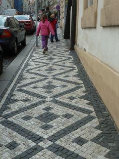 Mosaic tile sidewalk - beautiful!