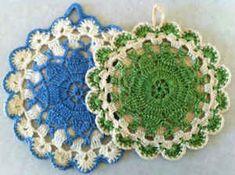 Best Free Crochet » Queen Anne's Lace Vintage Potholder – Free Crochet Pattern