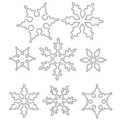 Snowflake Template For Royal Icing Royal Icing Snowflake Pattern Snowflake Stencil, Snowflake Template, Snowflake Pattern, Easy Snowflake, Royal Icing Templates, Royal Icing Transfers, Shape Templates, Christmas Snowflakes, Christmas Crafts