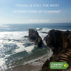 """""""Travel is still the most intense form of learning"""" - Kevin Kelly #Wanderlust #Travel #Quote #Inspiration"""