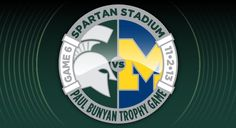 MSU Football vs. U of M this Saturday live from Spartan Stadium! Broadcasts starts @ 2:00pm ET!  #MSUFOOTBALL #RIVALRY
