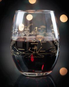 Night Sky Star Chart Summer & Winter Stemless Wine Glasses (Pair) - Cognitive Surplus - 4