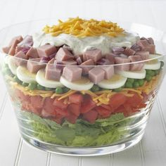 This salad is a perfect after-holiday recipe since it uses leftover hard-cooked eggs, ham or turkey you might have.