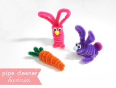 Lines Across: How to Make Pipe Cleaner Bunnies and carrots