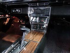 1966 CHEVROLET CAPRICE 2-DOOR CUSTOM COUPE 396. Factory Marina Blue with black vinyl top and interior.