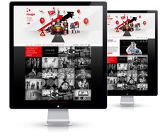 Rouge - 13decembre - Séverin Boonne - you had me at rouge, at the slant and at the grid.  shut up & take my money #webdesign