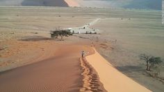 Namibia's iconic sand dunes are an hour's drive from the lodge. NamibRand is a private reserve, and the dunes are inside the adjacent Namib-Naukluft National Park.