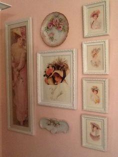 Vintage Decor and Shabby look items. Shabby Chic Frames, Shabby Chic Pink, Shabby Chic Bedrooms, Shabby Chic Cottage, Shabby Vintage, Shabby Chic Style, Shabby Chic Decor, Vintage Decor, Vintage Plates