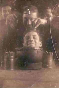 Atelier de ciselure de l'Ecole Boulle en 1926