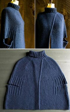 truebluemeandyou: DIY Knit Sophisticated City Cape Pattern from...