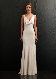 Simple Amanda Wakeley for #vintage brides