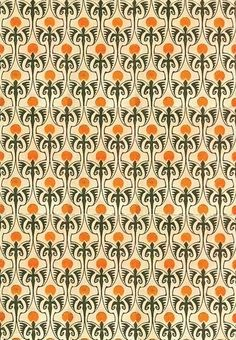 Textile design by Bernhard Wenig, produced in 1901 Surface Design, Surface Pattern, Pattern Art, Pattern Design, Motifs Textiles, Textile Patterns, Textile Prints, Textile Texture, Fabric Wallpaper