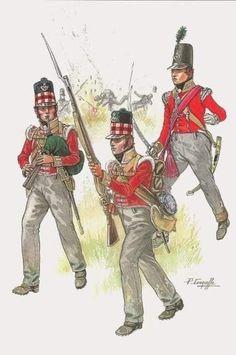 British Army Uniform, British Uniforms, British Soldier, Military Art, Military History, Military Insignia, Military Fashion, Commonwealth, Bataille De Waterloo