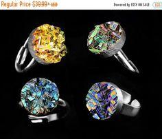 ON SALE Bismuth Crystal Ring Custom Order Iridescent par Element83