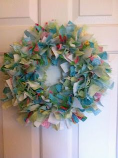 Make your own rag wreath