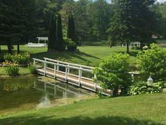 Garden Bridge, Wedding Bells, Trail, Deck, Outdoor Structures, Outdoor Decor, Home Decor, Homemade Home Decor, Decks