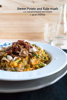 Sweet Potato and Kale mash | © in my Red Kitchen