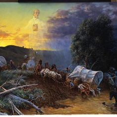 "The Mormon Pioneers, who were driven from their homes and walked over a 1000 miles on foot through bitter cold and enduring starvation and loss on a daily basis (among many other trials) - ALL FOR THE CAUSE OF FAITH - are absolutely heroes!   - Clark Kelley Price ""Shall We Not Go on in So Great a Cause"""