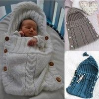 100% True Pudcoco Hot Ship Infant Newborn Baby Knit Receiving Blanket Swaddle Wrap Sleeping Bag Photograpgy Warm Winter Boy Girl Suit Accessories