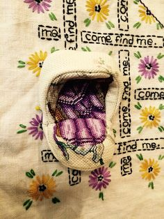 """Amy Meissner, textile artist. From the post """"Splitting open the idea."""" www.amymeissner.com"""