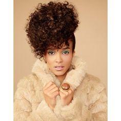 Coiffure cheveux afro frises printemps ete 2015