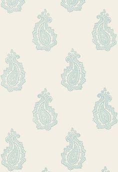 FSchumacher Wallpaper 5005302 Madras Paisley Water Blue
