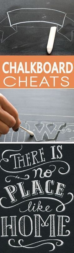 Before you do any chalkboard art, learn how to make it look professional with these easy cheats for drawing on chalkboard We all love chalkboard, it is gorgeous. Learn chalkboard tips and cheats that will help you get a professional look to your board. Chalkboard Art Quotes, Blackboard Art, Chalkboard Writing, Chalkboard Lettering, Chalkboard Designs, Chalkboard Paint, Chalkboard Ideas, Chalkboard Wedding Signs, Chalkboard Art Kitchen