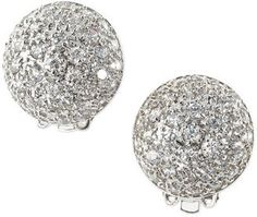 ShopStyle: CZ by Kenneth Jay Lane Pave Dome Clip Earrings