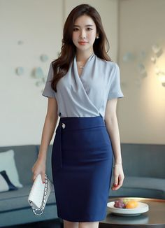 Korean Fashion Trends you can Steal – Designer Fashion Tips Office Outfits Women, Stylish Work Outfits, Classy Outfits, Classy Dress, Suit Fashion, Work Fashion, Fashion Outfits, Korean Girl Fashion, Korean Fashion Trends