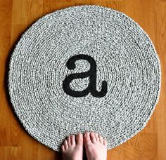 Monogram A Rug by recyclingartistemily, via Flickr