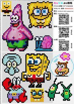 SpongeBob Perler Bead Patterns