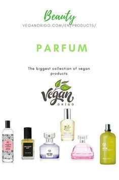 Vegan and cruelty free parfums and other beauty products