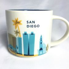STARBUCKS COFFEE SAN DIEGO City Mug You Are Here Collection, 14 fl oz 2012 Cup
