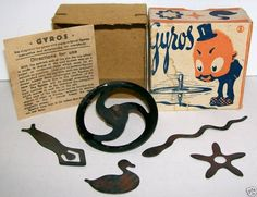 RARE 1920's GYRO MAGNETIC TIN SPINNING TOP Germany, BOX   eBay