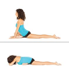 Want a firmer butt? These five yoga moves are all about toning your backside. Celebrity fitness instructor Mandy Ingber shows you how to get a better butt. Basic Yoga Poses Chart, Easy Yoga Poses, Yoga Poses For Beginners, Yoga Chart, Yoga Pigeon Pose, Stretches For Runners, Yoga Bewegungen, Psoas Release, Deep Breathing Exercises