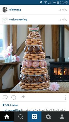 Donut Wedding Cake Sleepy Ridge Weddings Utah Venue