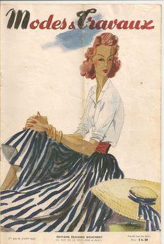 Modes et Travaux Juillet 1943 - couverture : création Robert Piguet