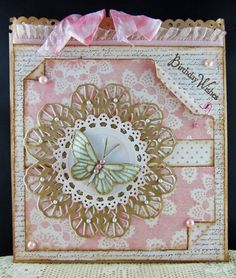 Scraps From A Broad: Pink Birthday Wishes. A bag/card/tag! For Lisa